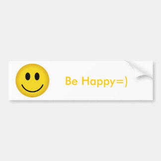 SmileyFace Be Happy Bumper Stickers