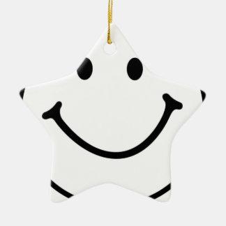 smileyface ceramic ornament