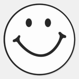 smileyface classic round sticker