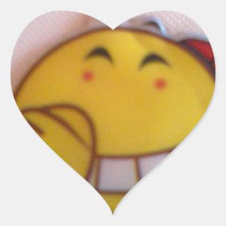 smileyface heart sticker