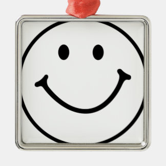 smileyface metal ornament