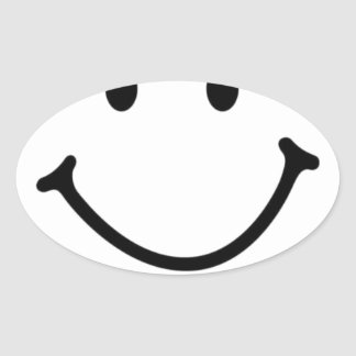 smileyface oval sticker