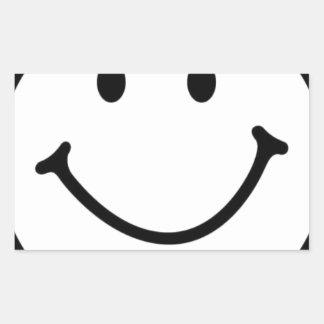 smileyface rectangular sticker
