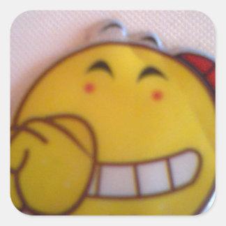 smileyface square sticker