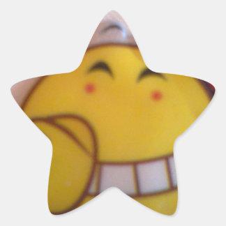 smileyface star sticker