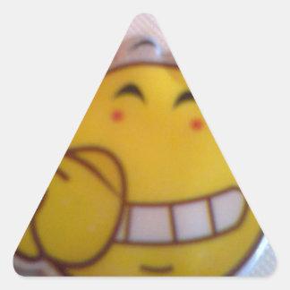 smileyface triangle sticker