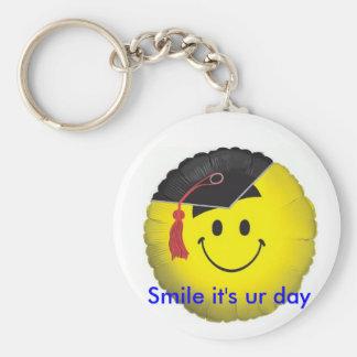 smileyfacegrad, Smile it's ur day Basic Round Button Keychain