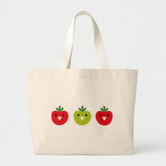 SmileyFruitMix2 Large Tote Bag