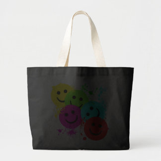 SMILEYS AND PAINT SPLATTER TOTE BAG