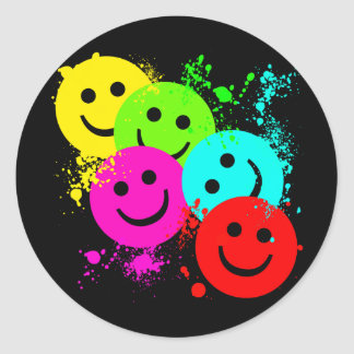 SMILEYS AND PAINT SPLATTER STICKERS