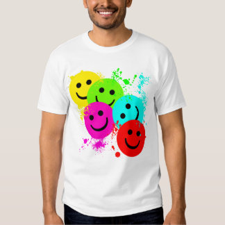 SMILEYS AND PAINT SPLATTER T-Shirt