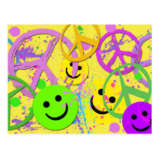 SMILEYS AND PEACE SIGNS POSTCARDS