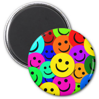 SMILEYS COLLAGE 2 INCH ROUND MAGNET