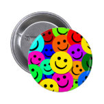 SMILEYS COLLAGE PINBACK BUTTONS