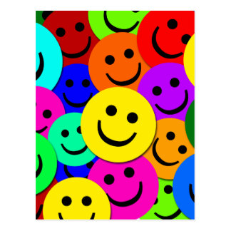 SMILEYS COLLAGE POST CARDS