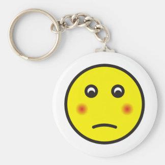smilie bashfully ashamed keychain