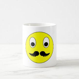 Smilie bigote smiley moustache mustache taza