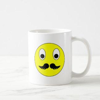 Smilie bigote smiley moustache mustache taza clásica