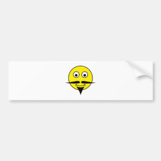 Smilie bigote smiley moustache pegatina para auto