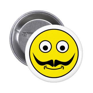Smilie bigote smiley moustache pin