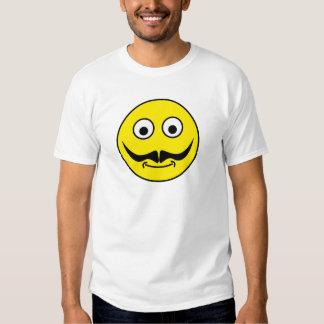 Smilie bigote smiley moustache poleras