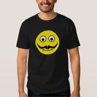 Smilie bigote smiley moustache remeras