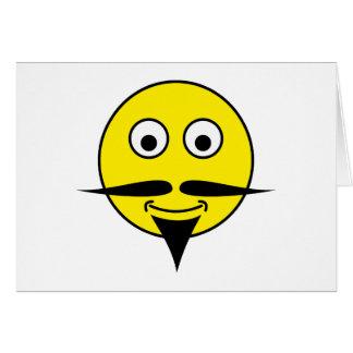 Smilie bigote smiley moustache tarjeta de felicitación