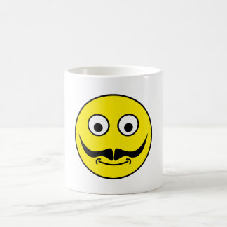 Smilie bigote smiley moustache taza clásica