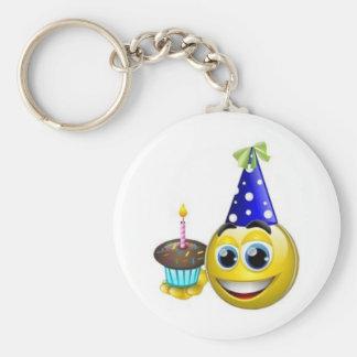 Smilie-Birthday Keychain
