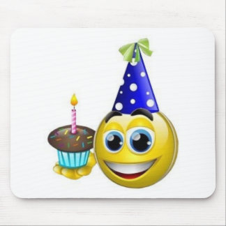 Smilie-Birthday Mouse Pad