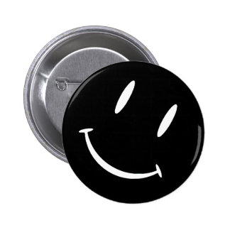 SMILIE BLACK WHITE BUTTONS