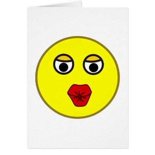 Smilie Bussi Kuss smiley kiss Karte