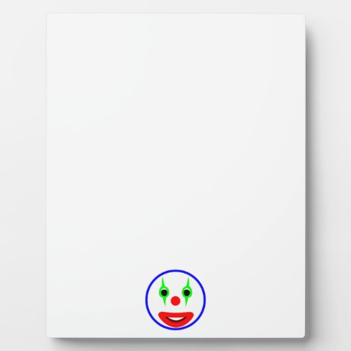 Smilie clown smiley display plaques