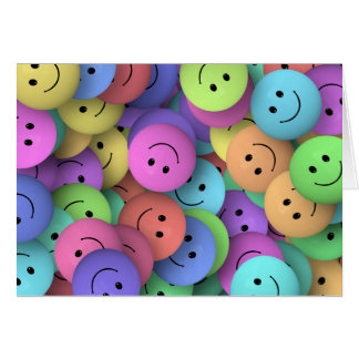 SMILIE COLLAGE HAPPY FACES COLORFUL BACKGROUNDS WA CARD