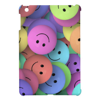 SMILIE COLLAGE HAPPY FACES COLORFUL BACKGROUNDS WA iPad MINI CASES