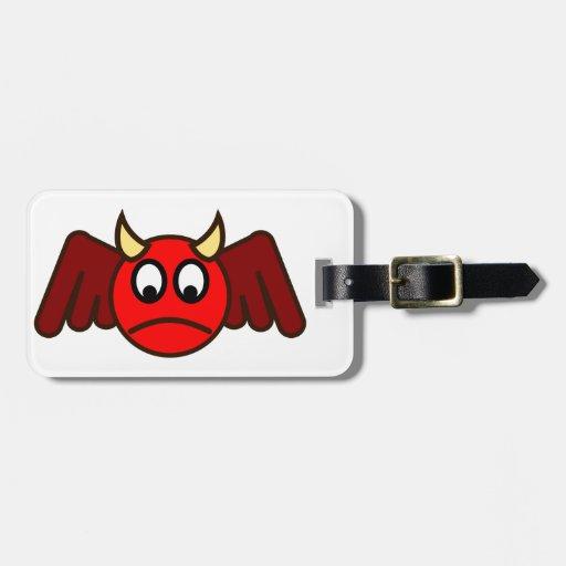 Smilie depths smiley devil luggage tags