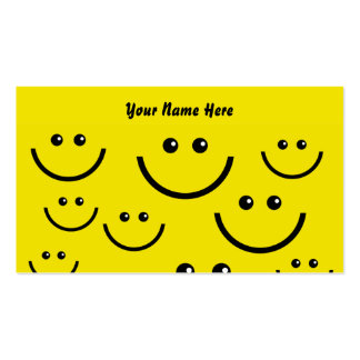 Smilie Face Background, Your Name Here Business Cards
