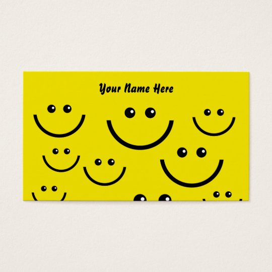 Smilie Face Background, Your Name Here Business Card