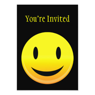Smilie Face Happy 5x7 Paper Invitation Card