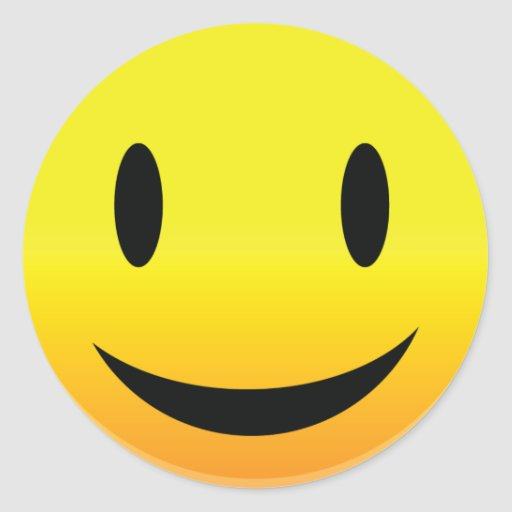 Smilie Face Happy Stickers