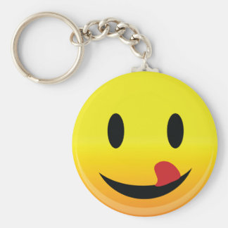 Smilie Face Lick Lips Keychain