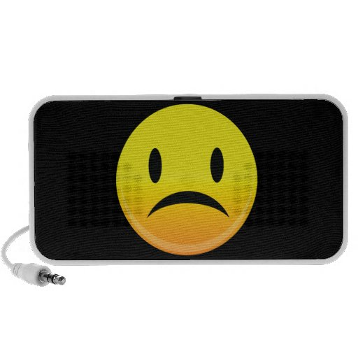 Smilie Face Sad iPod Speakers