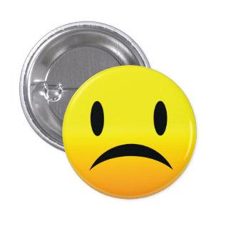 Smilie Face Sad Pinback Button
