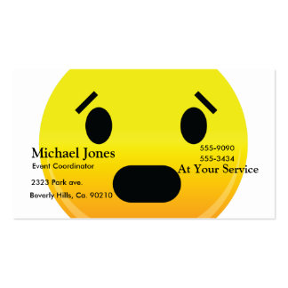 Smilie Face Scared Double-Sided Standard Business Cards (Pack Of 100)