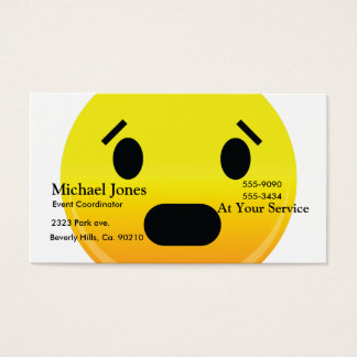 Smilie Face Scared Business Card
