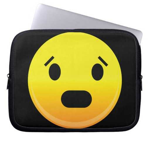 Smilie Face Scared Laptop Computer Sleeves