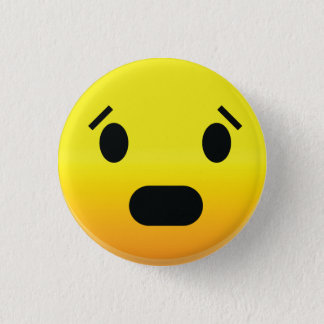 Smilie Face Scared Pinback Button
