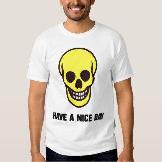 Smilie Face Skull T-shirt