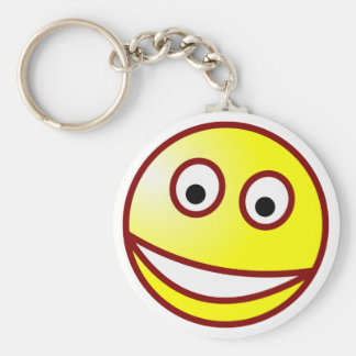 Smilie grinning smiley grin keychain