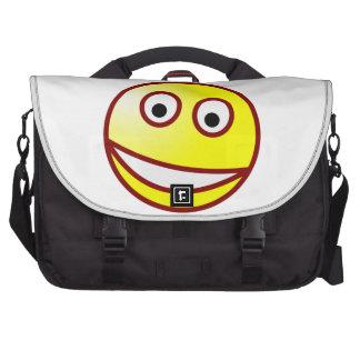 Smilie grinning smiley grin laptop bag